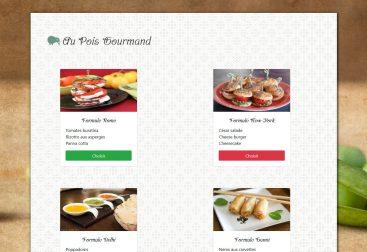 Accueil Au Pois Gourmand php méthode Get