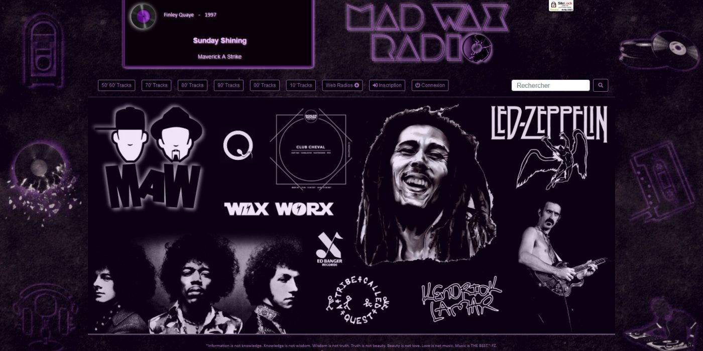 Accueil Mad Wax Radio Php